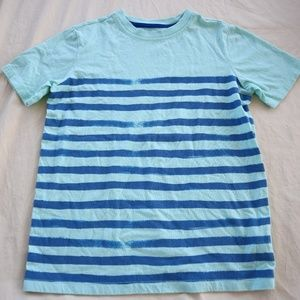 ⭐ 5 for $25 Lands' End Stripe Cotton Tee M 10/12